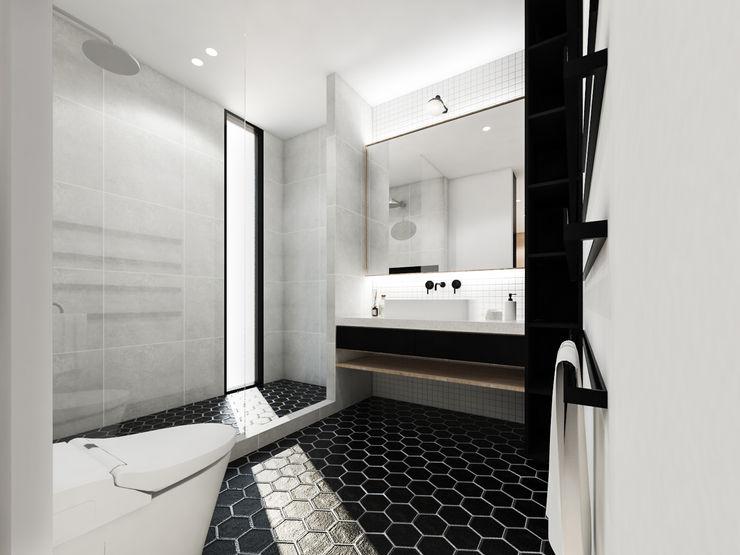 KERA Design Studio 現代浴室設計點子、靈感&圖片