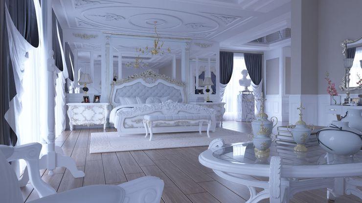 Magic Mimarlık 臥室 木頭 White