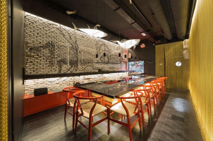 Enrique Barrera includes KRION in the dream of Chef Emil Samper, CRUDITO Restaurant KRION® Porcelanosa Solid Surface ЇдальняТаблиці