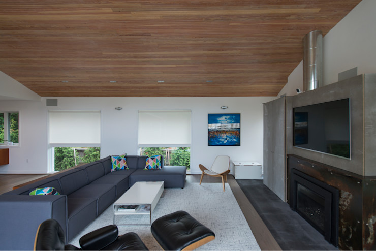 Courtyard House ARCHI-TEXTUAL, PLLC Modern Living Room