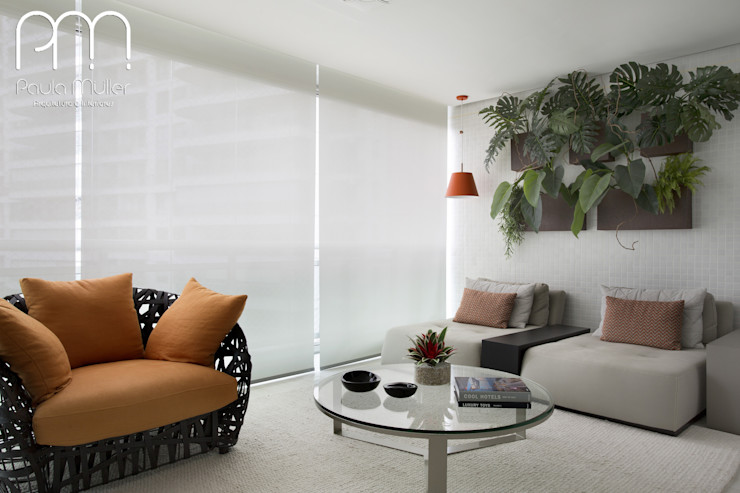 Paula Müller Arquitetura e Design de Interiores Modern balcony, veranda & terrace