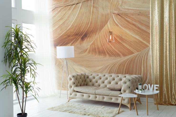 Golden Sands Pixers Ruang Keluarga Gaya Kolonial Beige