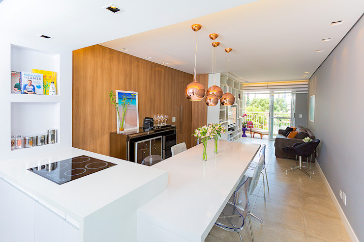 Carolina Kist Arquitetura & Design Ruang Makan Modern
