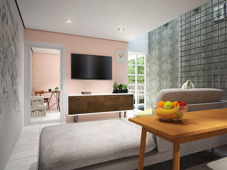 Interior - Ruang Keluarga SODA Indonesia Ruang Keluarga Modern Beton Grey