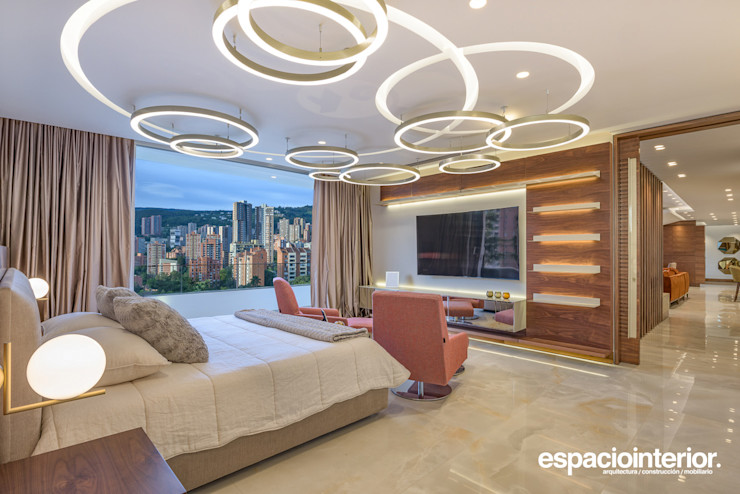 EspacioInterior Eclectic style bedroom Ceramic Amber/Gold