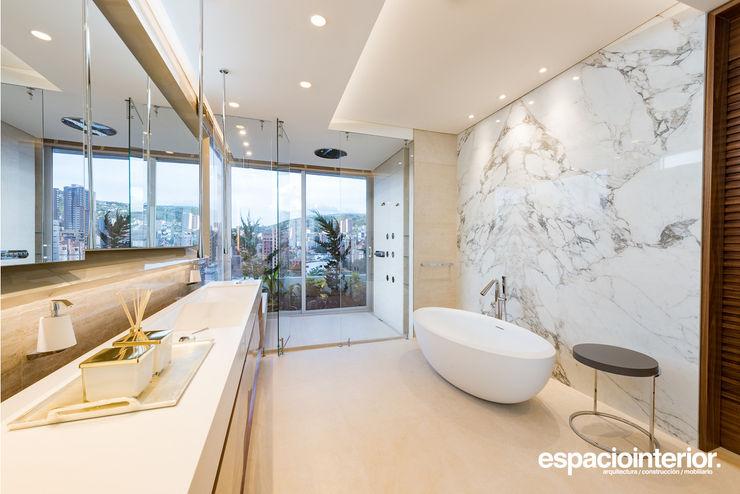 EspacioInterior Eclectic style bathroom Ceramic Beige