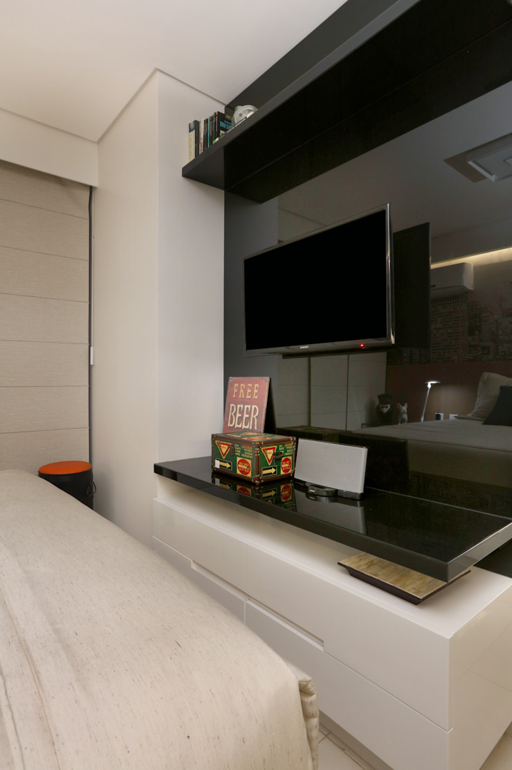 Danielle Valente Arquitetura e Interiores Modern style bedroom