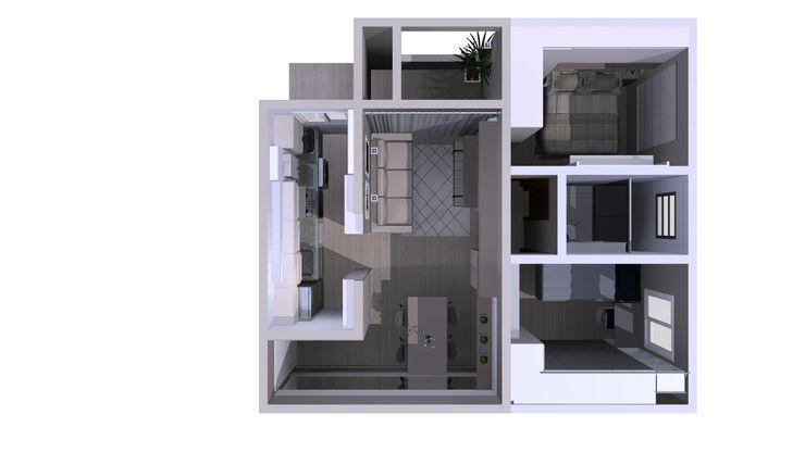 Paula De Zorzi | Design + Interiores LivingsAparadores y vitrinas Madera Gris