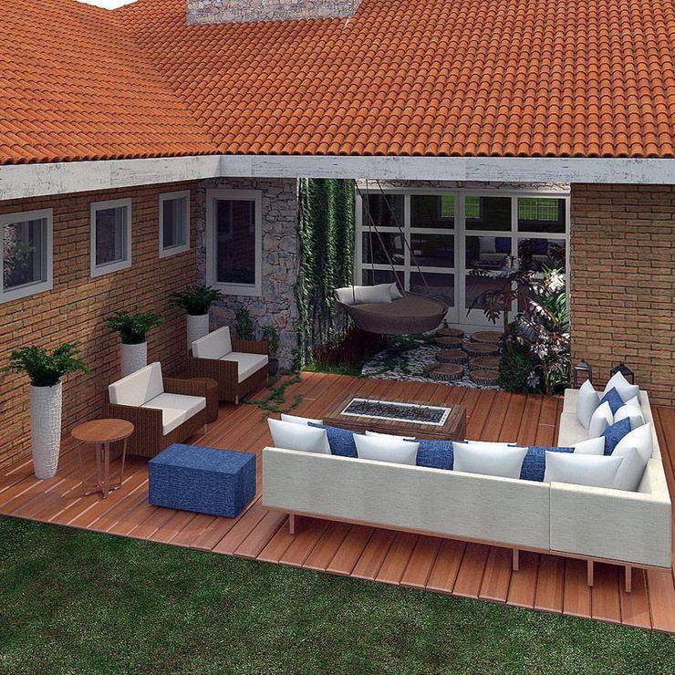 Terraço Legrand Arquitetura Varandas, alpendres e terraços modernos