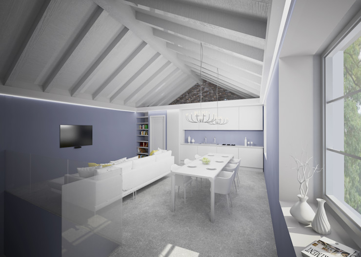 Arch. Francesco Antoniazza - Il bello della casa ..................... di una volta Living room Purple/Violet