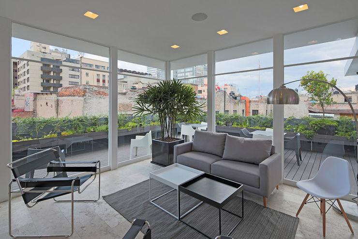 Boué Arquitectos 现代客厅設計點子、靈感 & 圖片