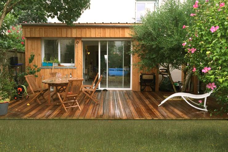 Wood Box B² atelier d'architecture Maisons minimalistes