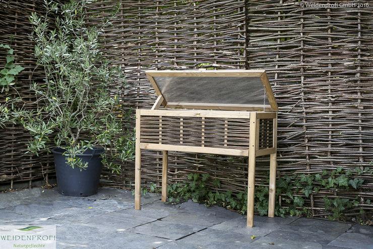 Balkon Hochbeet aus Kiefernholz und Weide naturgeflechte24 Moderner Garten Holz
