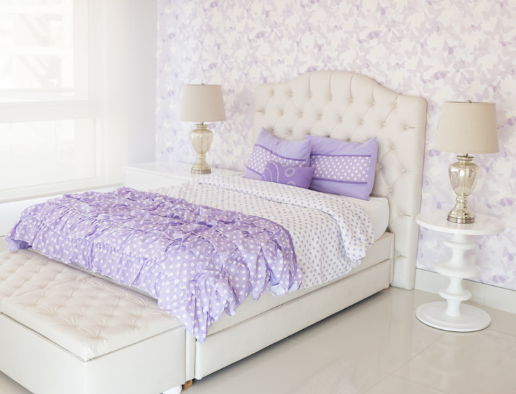 Monica Saravia Girls Bedroom Purple/Violet