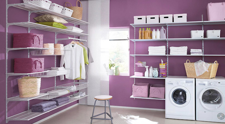 P-SLOT—Wall Shelving System Regalraum UK Industrial style dressing room