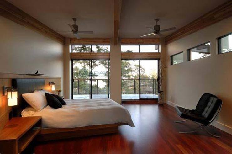 ADAY GRUP Hafif Çelik Yapılar A.Ş. / LGS CONSTRUCTION Villas Wood-Plastic Composite Wood effect
