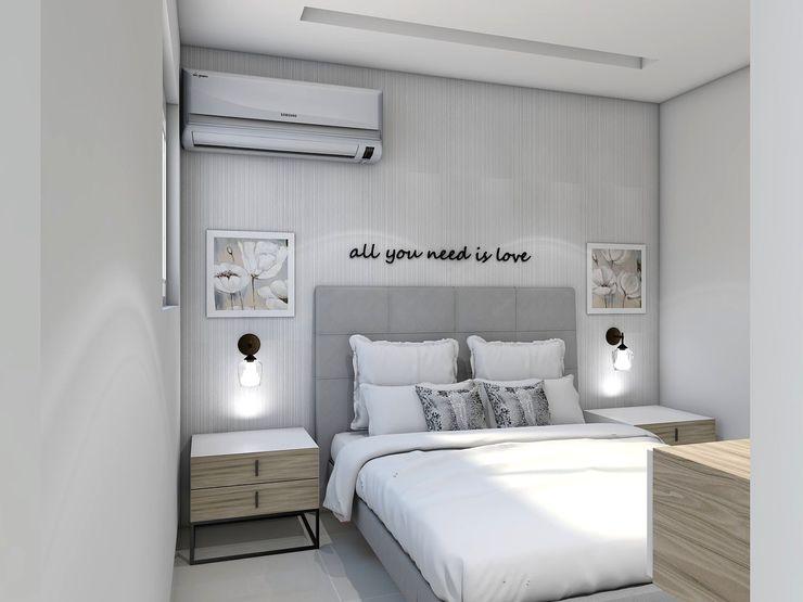 Diseño interior apartamento Savignano Design Modern Bedroom