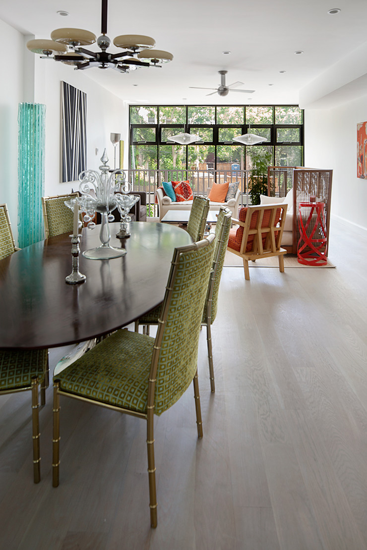 Carroll Gardens Townhouse andretchelistcheffarchitects Modern dining room