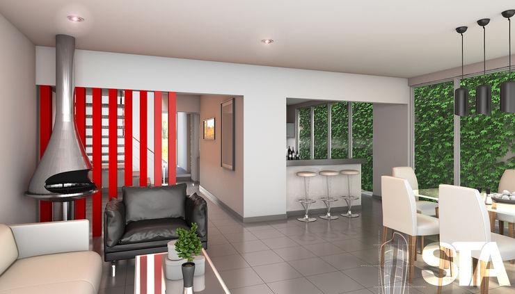 Soluciones Técnicas y de Arquitectura 现代客厅設計點子、靈感 & 圖片