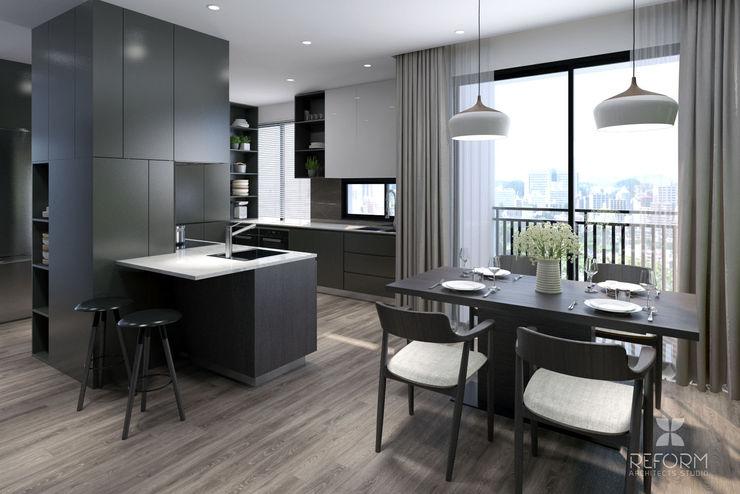 Reform Architects Modern Dining Room Grey