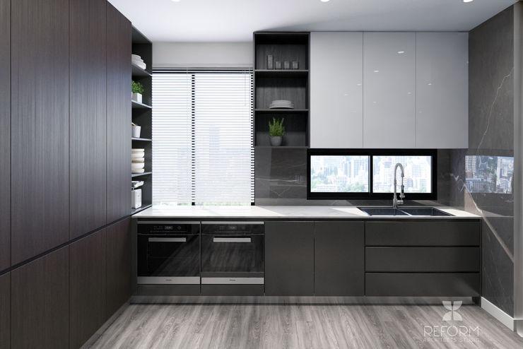 Reform Architects Kitchen units Brown
