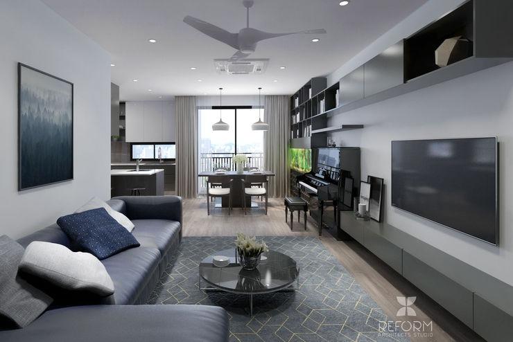 Reform Architects Modern Living Room Grey