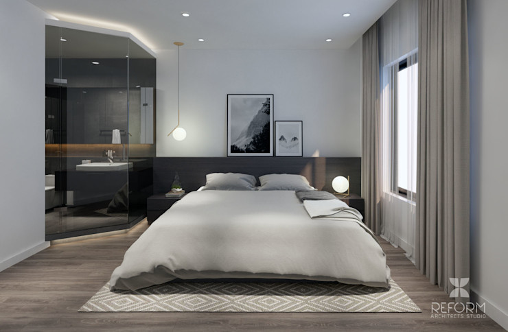 Reform Architects Modern Bedroom Brown