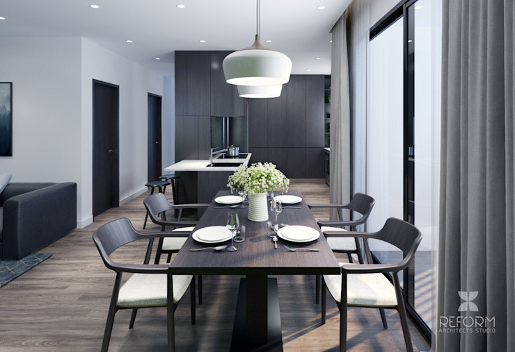 Reform Architects Modern Dining Room Brown