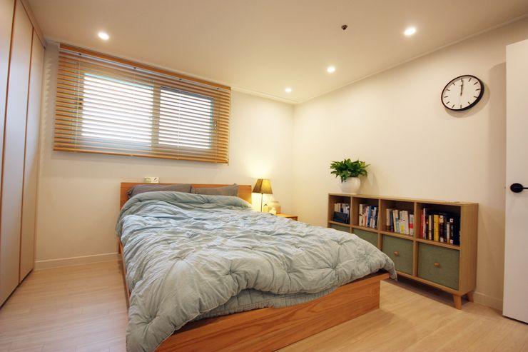 광장동 32평 내츄럴 홈스타일링 homelatte 미니멀리스트 침실