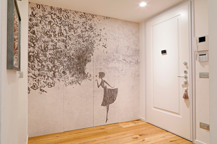 studio ferlazzo natoli Minimalist corridor, hallway & stairs