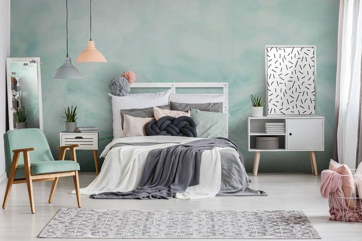 Scandinavian Mint Pixers Scandinavian style bedroom