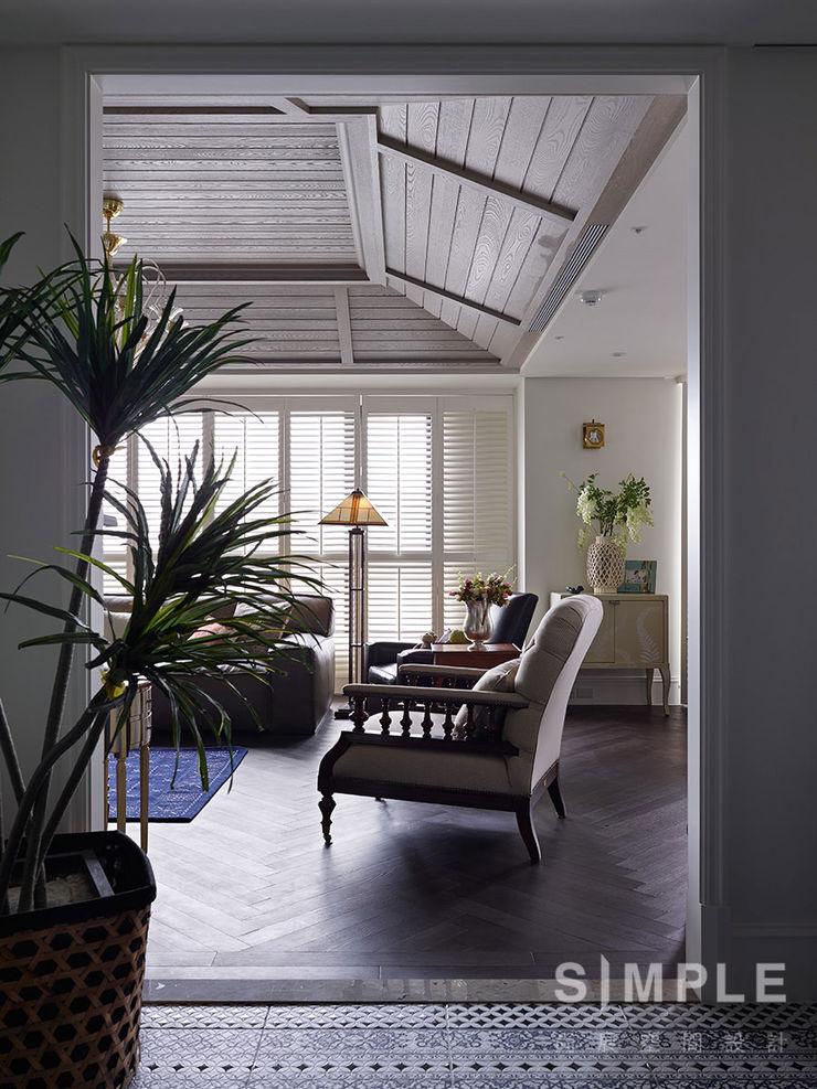 尚展空間設計 Colonial style corridor, hallway& stairs