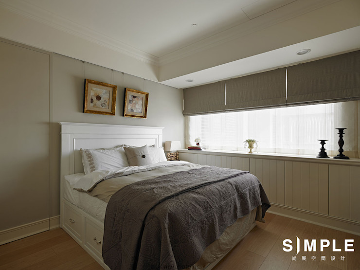 尚展空間設計 Classic style bedroom Beige