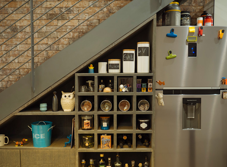 Mobiliario, acabados, closets e interiorismo dpto Ch Nube Interiorismo Cocinas eclécticas