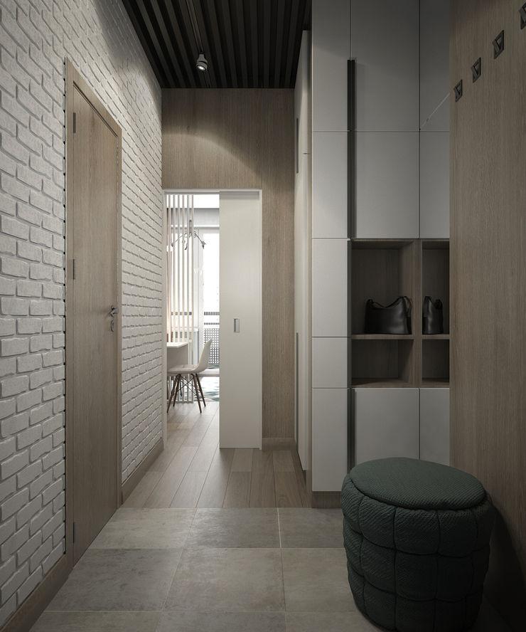 Studio/Saint-Pétersbourg, Russie, 2017 Tatiana Sukhova Couloir, entrée, escaliers modernes