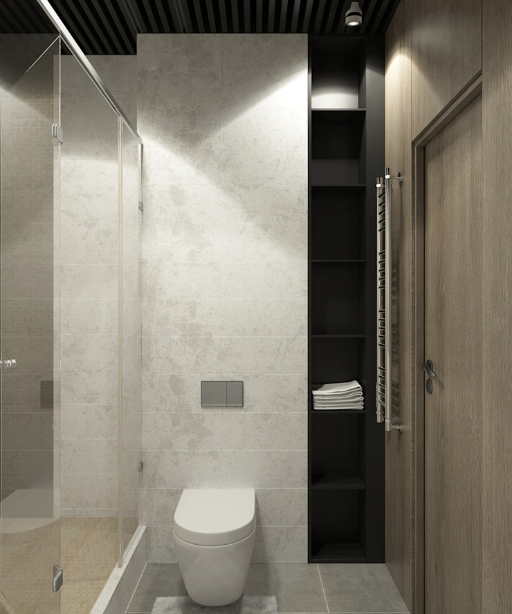 Studio/Saint-Pétersbourg, Russie, 2017 Tatiana Sukhova Salle de bain moderne
