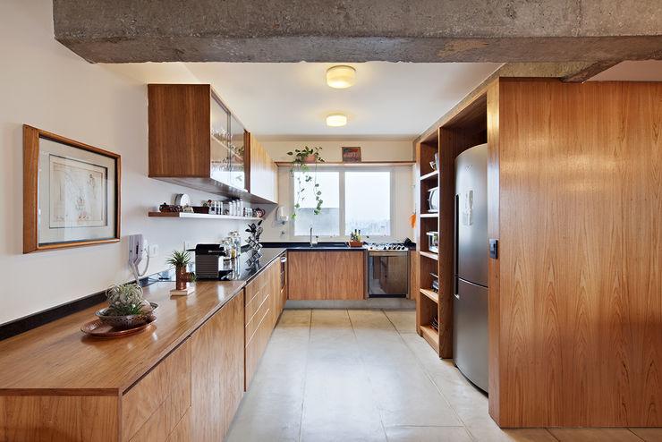 ODVO Arquitetura e Urbanismo Tủ bếp Bê tông White