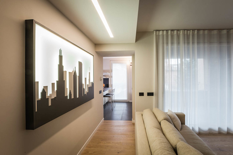 soggiorno minimal ADIdesign* studio Soggiorno minimalista