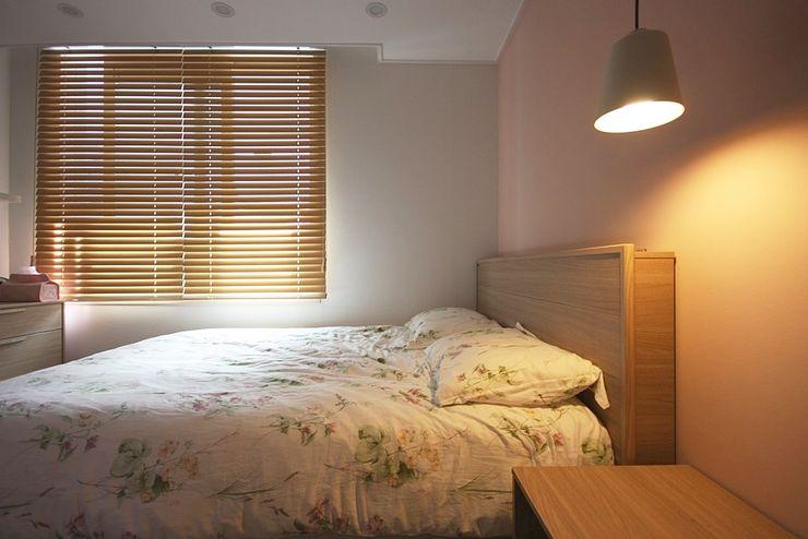 핑크 포인트 새아파트 신혼집 홈스타일링 homelatte 스칸디나비아 침실