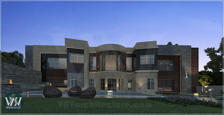 Villa exterior design VAVarchitecture Garden Swim baths & ponds