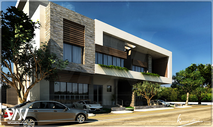 Villa exterior with Light modern style VAVarchitecture HouseholdHomewares