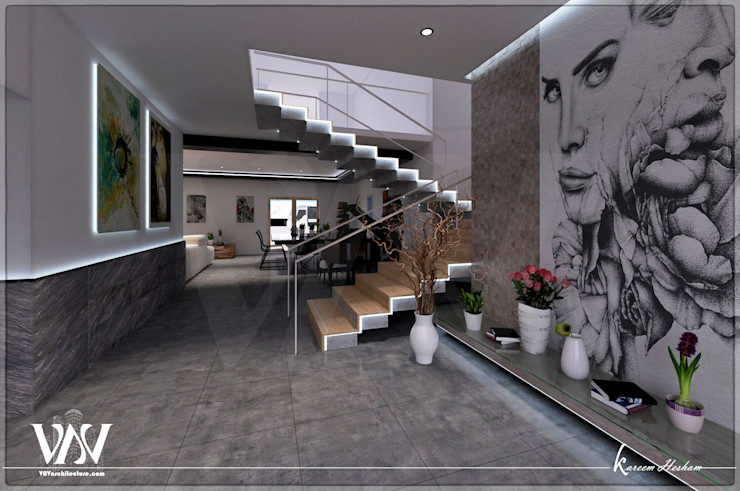 Reception VAVarchitecture Corridor, hallway & stairsStairs