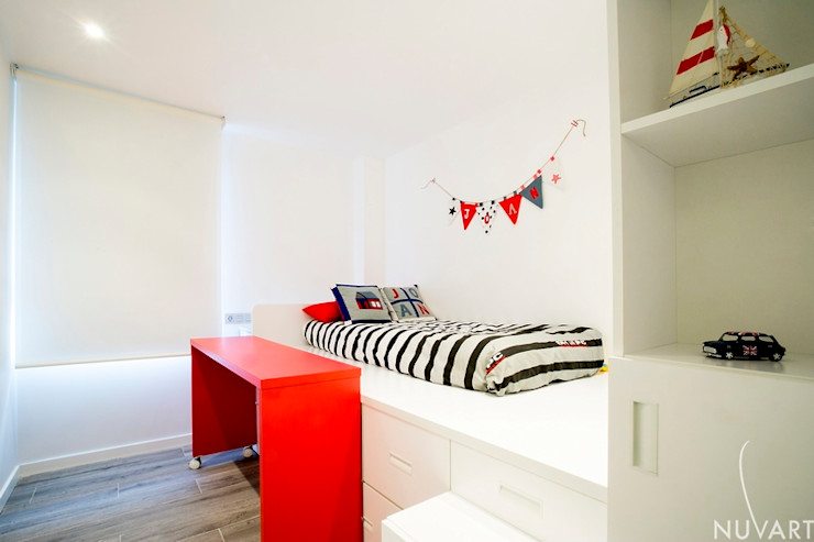 Vivienda Vila-Real NUVART Dormitorios infantiles de estilo mediterráneo