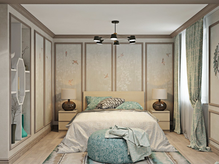 ДизайнМастер Classic style bedroom Beige