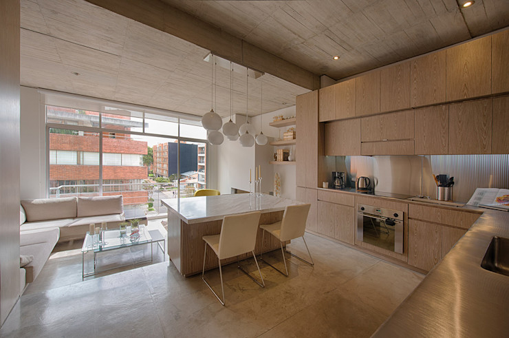 LIVING+KITCHEN Martínez Arquitectura Comedores minimalistas