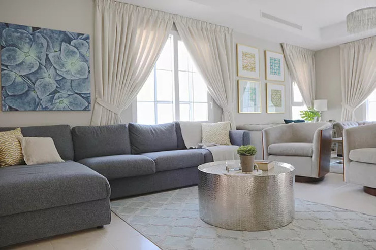 Alma Home Harf Noon Design Studio Eclectic style living room
