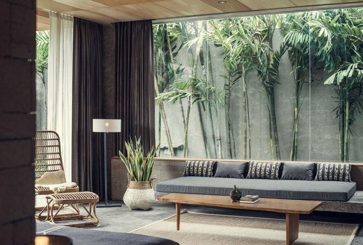 Meliki Salones de estilo asiático Bambú Acabado en madera