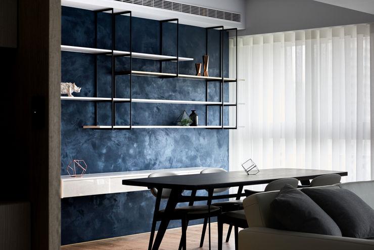 穿透空間 思維空間設計 现代客厅設計點子、靈感 & 圖片