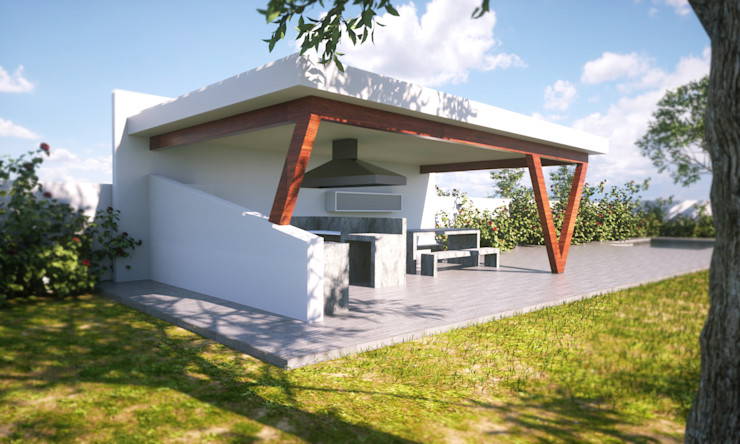 IMAGINA REALIDAD LTDA. Moderner Balkon, Veranda & Terrasse