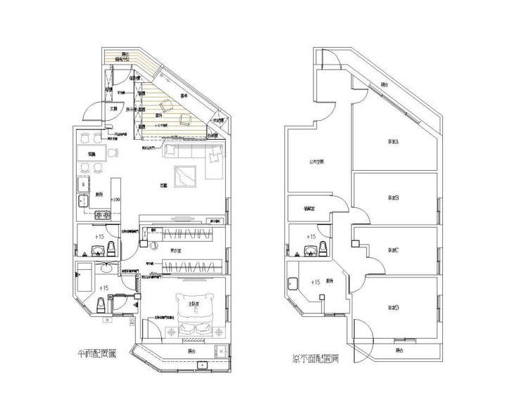 原平面配置V.S新平面配置 Hi+Design/Interior.Architecture. 寰邑空間設計 Living room